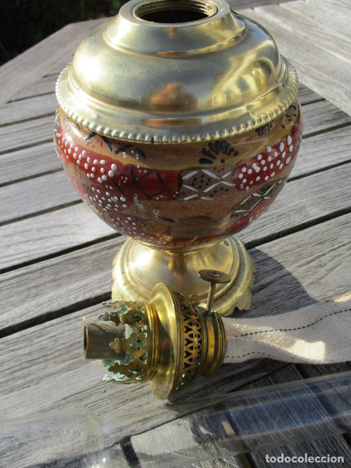 Antigüedades: PRECIOSO QUINQUE LAMPARA PETROLEO JAPÓN SATSUMA SIGLO XIX PERFECTA 198,00 € - Foto 2 - 149001250