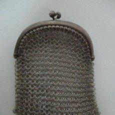 Antigüedades: ANTIGUO BOLSO, MONEDERO - MALLA DE ALPACA PLATEADA - AÑOS 30. Lote 149007970