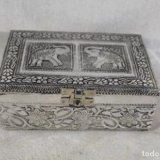 Antigüedades: CAJA JOYERO CON PLATA NEPALÍ. Lote 149013998