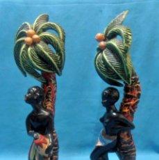 Antigüedades: 2 FIGURAS DE AFRICANOS. Lote 149034782