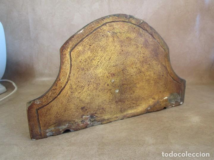 Antigüedades: antigua mensula madera policromada aguila mezquilanz - Foto 6 - 149046994