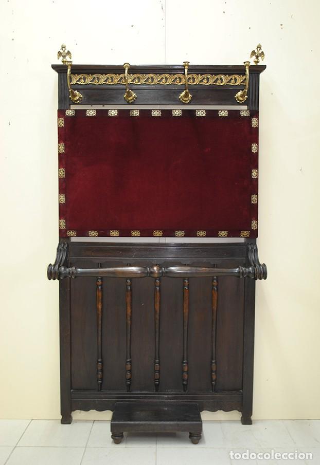 ANTIGUO PERCHERO RECIBIDOR (Antigüedades - Muebles Antiguos - Auxiliares Antiguos)