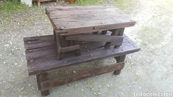 Antigüedades: Antiguas Mesas de madera artesanales - Foto 2 - 149206452