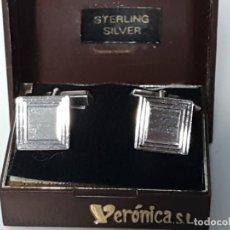 Oggetti Antichi: GEMELOS VINTAGE VERÓNICA S.L ( STERLING SILVER ) AÑOS 70/80. Lote 149209154