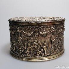 Antigüedades: GRAN CAJA BANADO EN PLATA SIGLO XIX. Lote 149217002