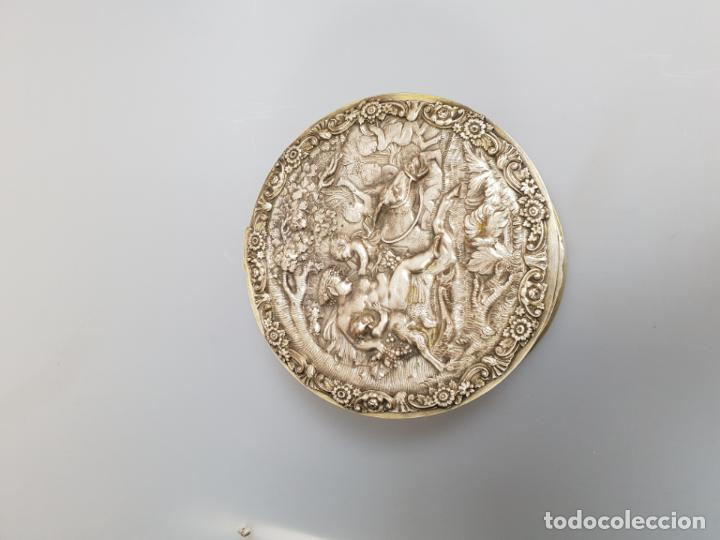 Antigüedades: gran caja banado en plata siglo XIX - Foto 3 - 149217002