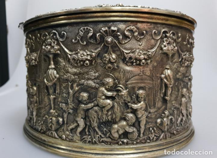 Antigüedades: gran caja banado en plata siglo XIX - Foto 4 - 149217002