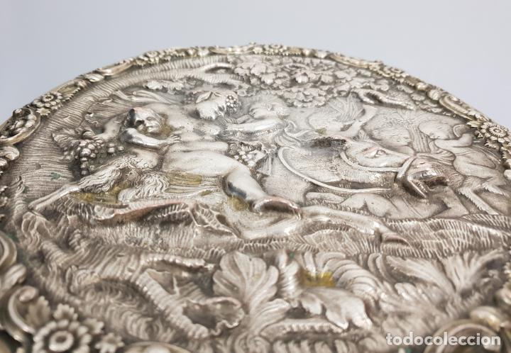 Antigüedades: gran caja banado en plata siglo XIX - Foto 5 - 149217002