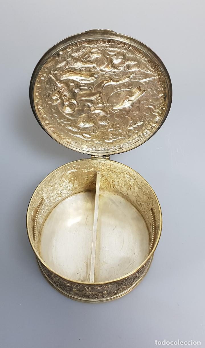 Antigüedades: gran caja banado en plata siglo XIX - Foto 6 - 149217002