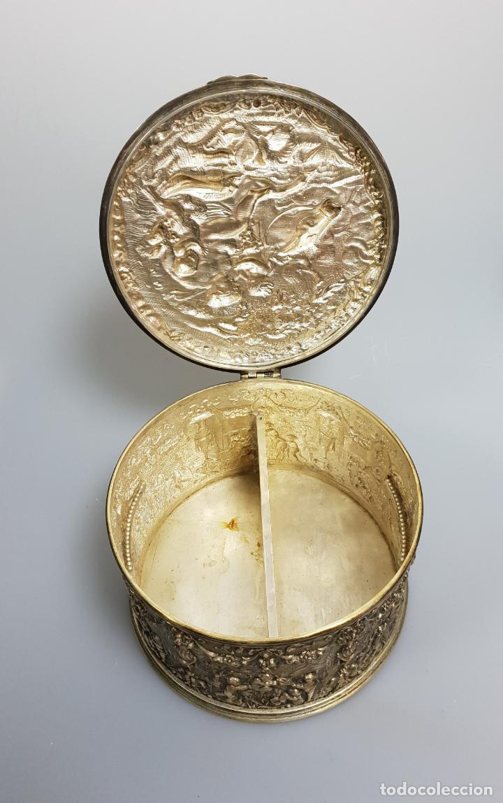 Antigüedades: gran caja banado en plata siglo XIX - Foto 7 - 149217002