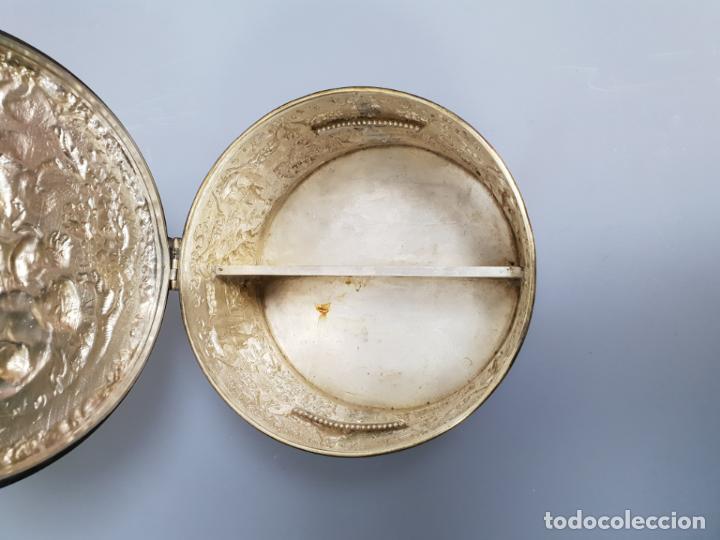 Antigüedades: gran caja banado en plata siglo XIX - Foto 8 - 149217002