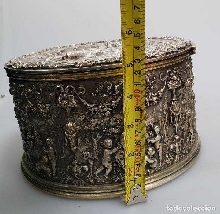 Antigüedades: gran caja banado en plata siglo XIX - Foto 12 - 149217002