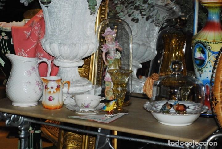 Antigüedades: MUY BONITA MESA DE HIERRO Y MÁRMOL SIGLO XIX - Foto 2 - 149223854