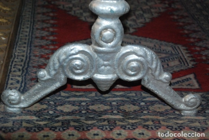 Antigüedades: MUY BONITA MESA DE HIERRO Y MÁRMOL SIGLO XIX - Foto 7 - 149223854