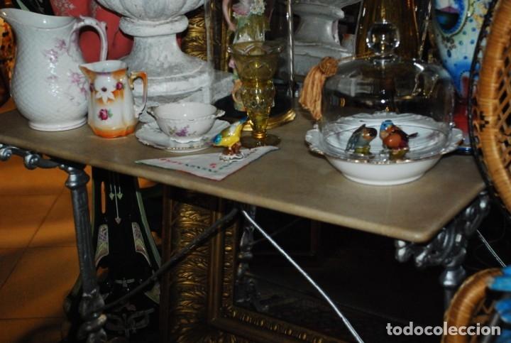 Antigüedades: MUY BONITA MESA DE HIERRO Y MÁRMOL SIGLO XIX - Foto 11 - 149223854