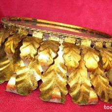 Antigüedades: GRAN LAMPARA ANTIGUA TECHO PLAFON HOJAS TIPO SOL VINTAGE MIDCENTURY JUEGO ESPEJO. Lote 149224738