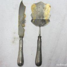 Antigüedades: CUCHILLO Y PALA DE SERVIR DECÓ. Lote 149232882