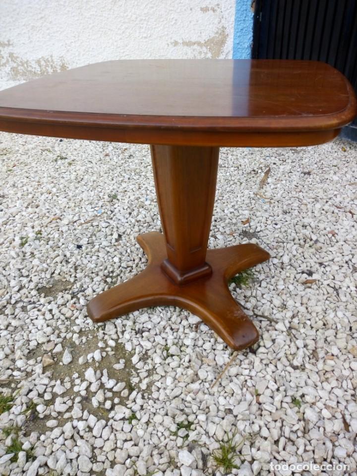 Antigüedades: Bonita mesa de madera de roble pata tallada. - Foto 2 - 149234634