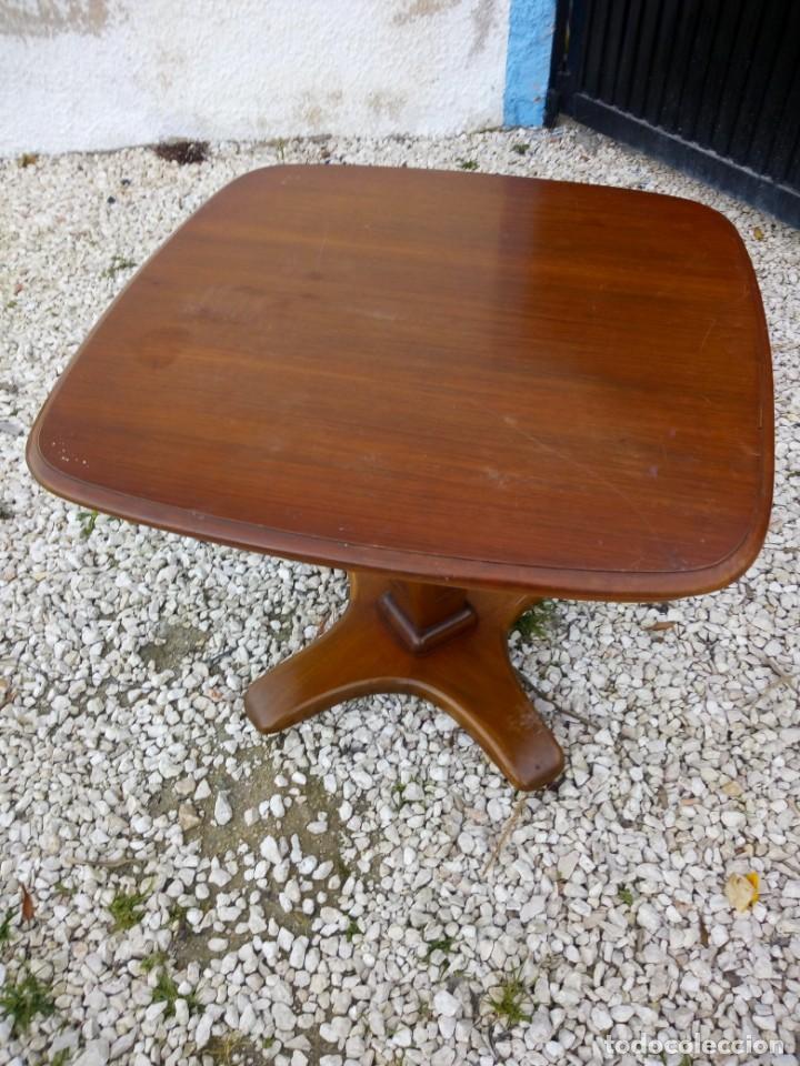 Antigüedades: Bonita mesa de madera de roble pata tallada. - Foto 3 - 149234634