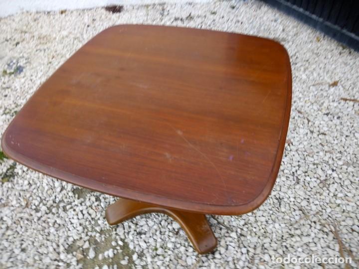 Antigüedades: Bonita mesa de madera de roble pata tallada. - Foto 4 - 149234634