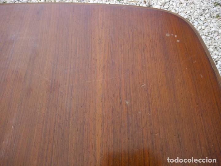 Antigüedades: Bonita mesa de madera de roble pata tallada. - Foto 6 - 149234634