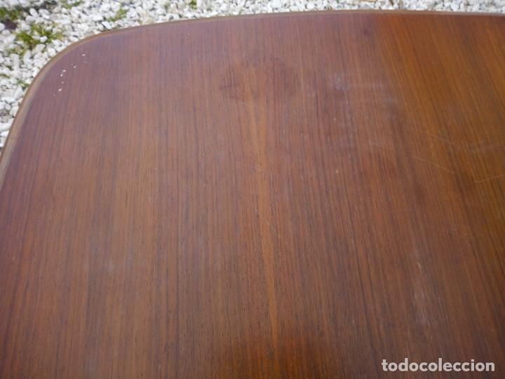 Antigüedades: Bonita mesa de madera de roble pata tallada. - Foto 7 - 149234634