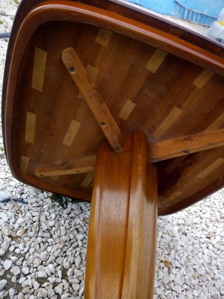 Antigüedades: Bonita mesa de madera de roble pata tallada. - Foto 10 - 149234634
