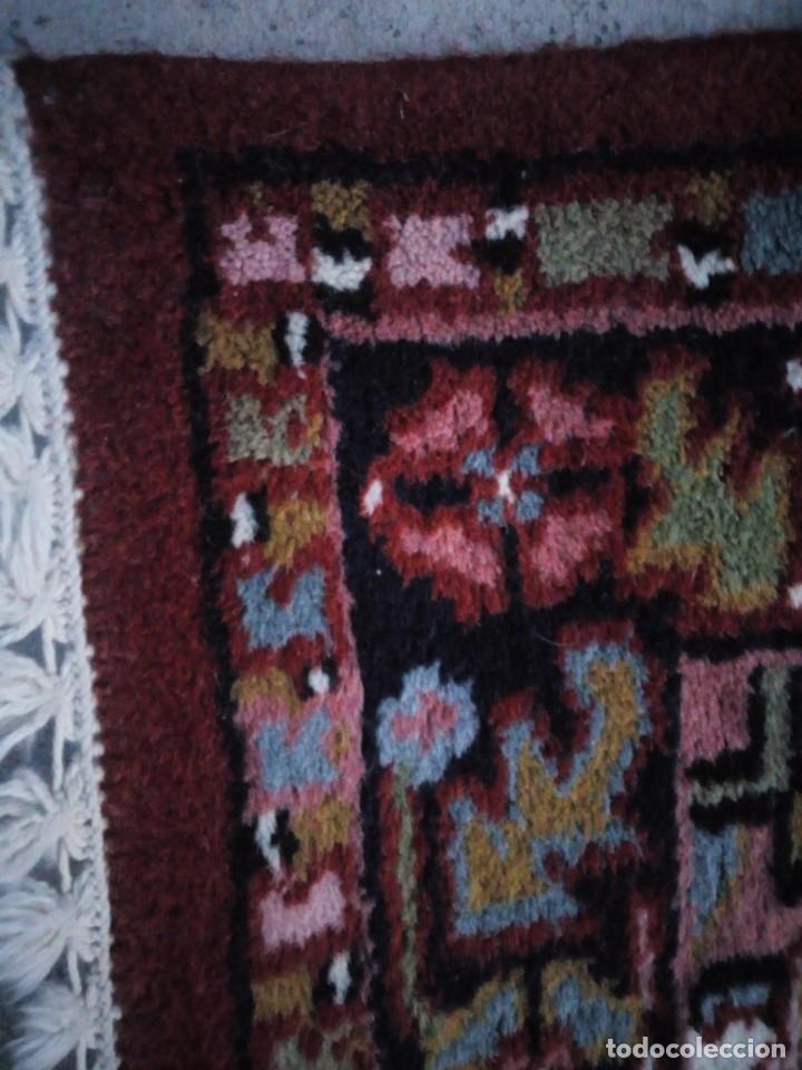 Antigüedades: Preciosa alfombra persa de pasillo hecha a mano lana pura,tonos rojizos. - Foto 5 - 149236966