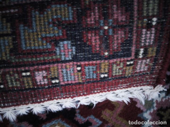 Antigüedades: Preciosa alfombra persa de pasillo hecha a mano lana pura,tonos rojizos. - Foto 6 - 149236966