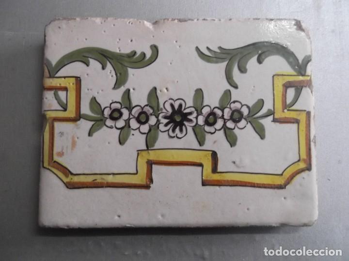 ANTIGUA BALDOSA DE CERÁMICA S.XIX (Antigüedades - Porcelanas y Cerámicas - Otras)