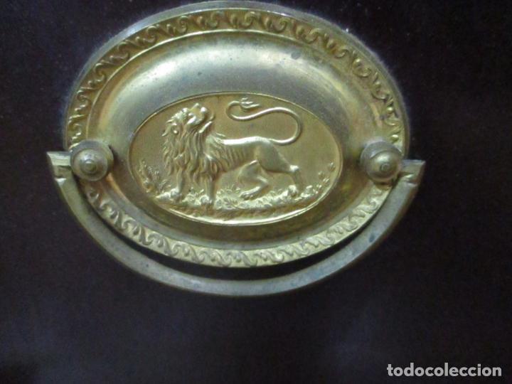 Antigüedades: Secreter Abattant Imperio - Mueble Escritorio - Madera de Caoba - Principios S. XIX - Foto 5 - 149273210