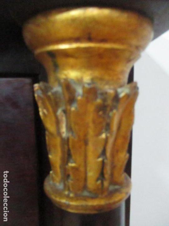 Antigüedades: Secreter Abattant Imperio - Mueble Escritorio - Madera de Caoba - Principios S. XIX - Foto 8 - 149273210
