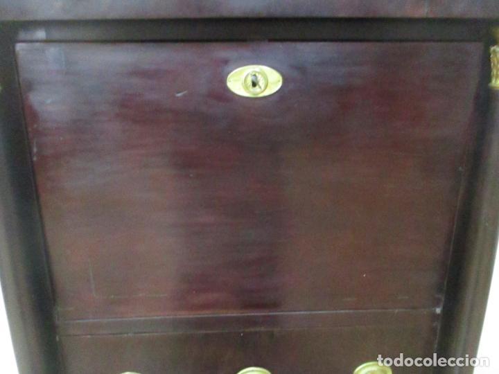 Antigüedades: Secreter Abattant Imperio - Mueble Escritorio - Madera de Caoba - Principios S. XIX - Foto 11 - 149273210
