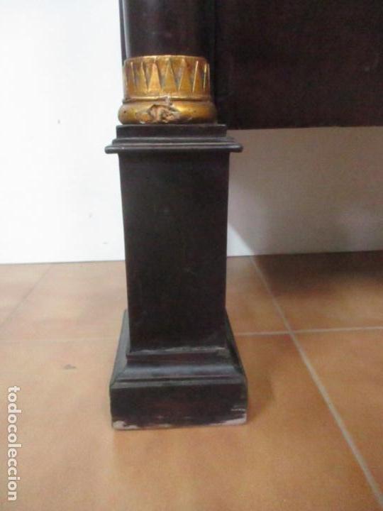 Antigüedades: Secreter Abattant Imperio - Mueble Escritorio - Madera de Caoba - Principios S. XIX - Foto 15 - 149273210