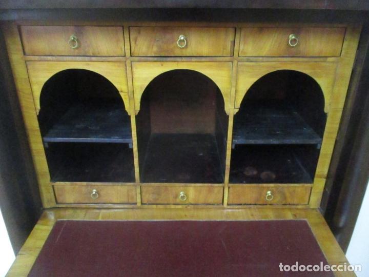Antigüedades: Secreter Abattant Imperio - Mueble Escritorio - Madera de Caoba - Principios S. XIX - Foto 26 - 149273210