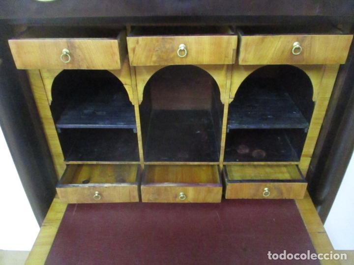 Antigüedades: Secreter Abattant Imperio - Mueble Escritorio - Madera de Caoba - Principios S. XIX - Foto 28 - 149273210