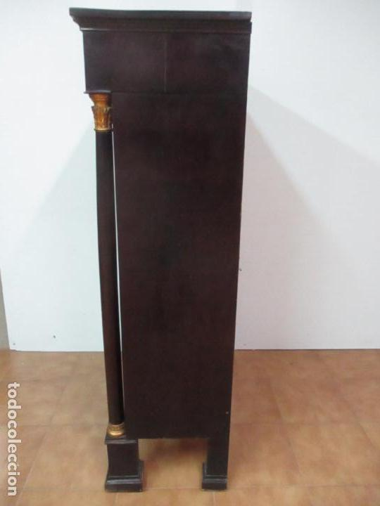Antigüedades: Secreter Abattant Imperio - Mueble Escritorio - Madera de Caoba - Principios S. XIX - Foto 30 - 149273210