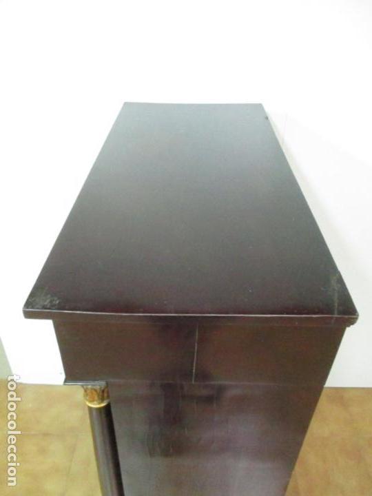Antigüedades: Secreter Abattant Imperio - Mueble Escritorio - Madera de Caoba - Principios S. XIX - Foto 36 - 149273210