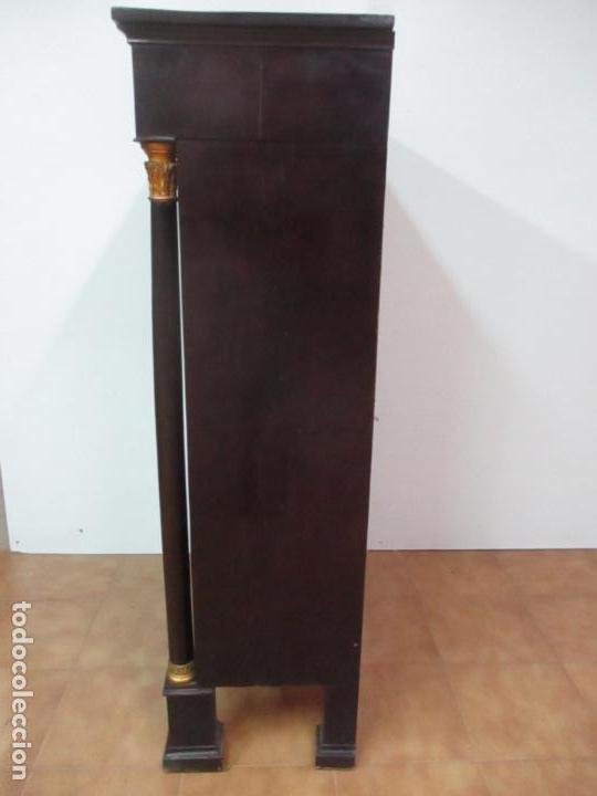 Antigüedades: Secreter Abattant Imperio - Mueble Escritorio - Madera de Caoba - Principios S. XIX - Foto 37 - 149273210