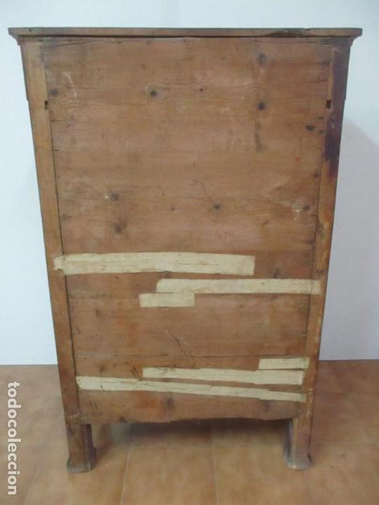 Antigüedades: Secreter Abattant Imperio - Mueble Escritorio - Madera de Caoba - Principios S. XIX - Foto 38 - 149273210