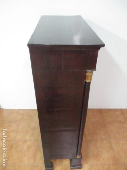 Antigüedades: Secreter Abattant Imperio - Mueble Escritorio - Madera de Caoba - Principios S. XIX - Foto 41 - 149273210
