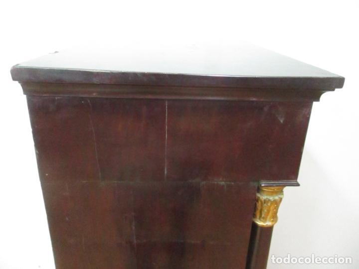 Antigüedades: Secreter Abattant Imperio - Mueble Escritorio - Madera de Caoba - Principios S. XIX - Foto 42 - 149273210