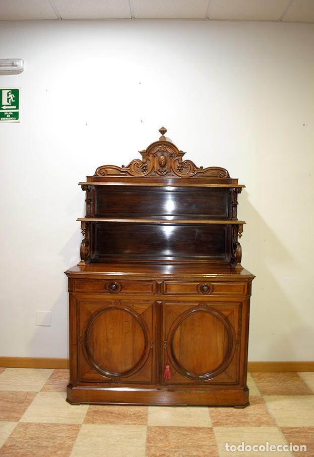 MUEBLE ANTIGUO PLATERO APARADOR MADERA PALO SANTO (Antigüedades - Muebles Antiguos - Aparadores Antiguos)