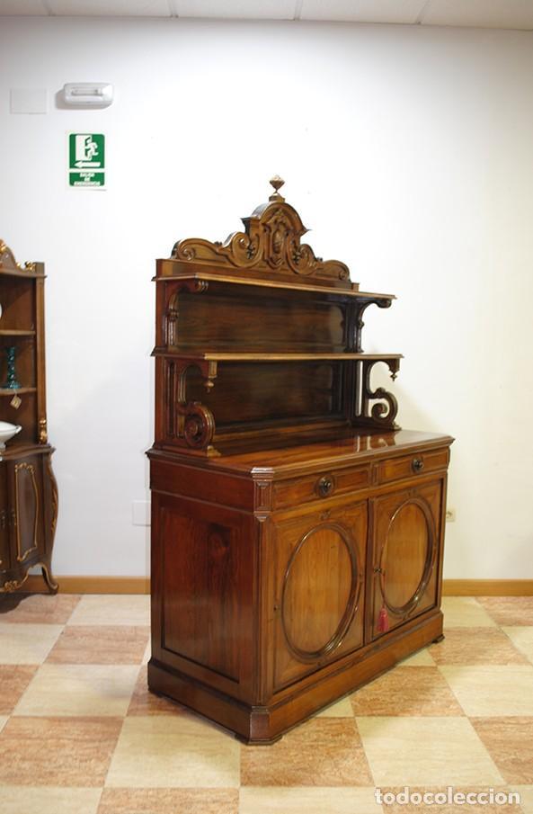 Antigüedades: MUEBLE ANTIGUO PLATERO APARADOR MADERA PALO SANTO - Foto 6 - 149283262