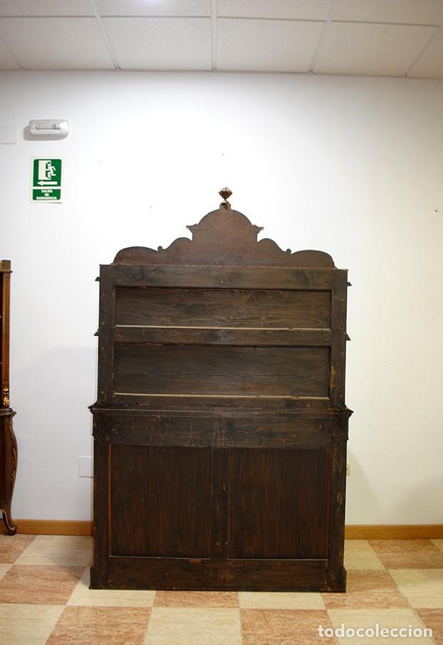 Antigüedades: MUEBLE ANTIGUO PLATERO APARADOR MADERA PALO SANTO - Foto 11 - 149283262
