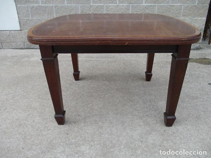 Antigüedades: Mesa de Comedor, Extensible - Madera de Caoba - 105 cm Largo, 100 cm Ancho - Foto 3 - 149304226