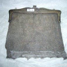 Antigüedades: BOLSITO DE MALLA EN PLATA.CA2. Lote 149311846