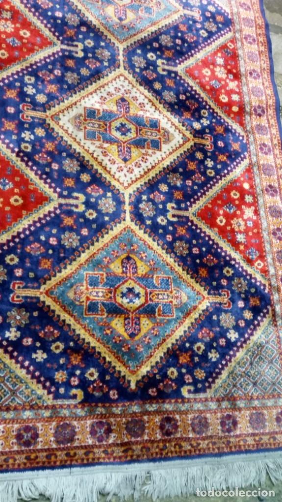 Antigüedades: Alfombra made in India /Calidad Karabag 127x185/100x100 Lana - Foto 3 - 149365070