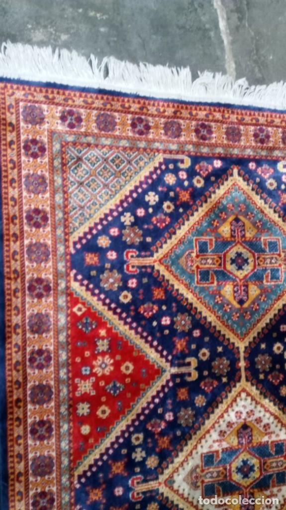 Antigüedades: Alfombra made in India /Calidad Karabag 127x185/100x100 Lana - Foto 4 - 149365070