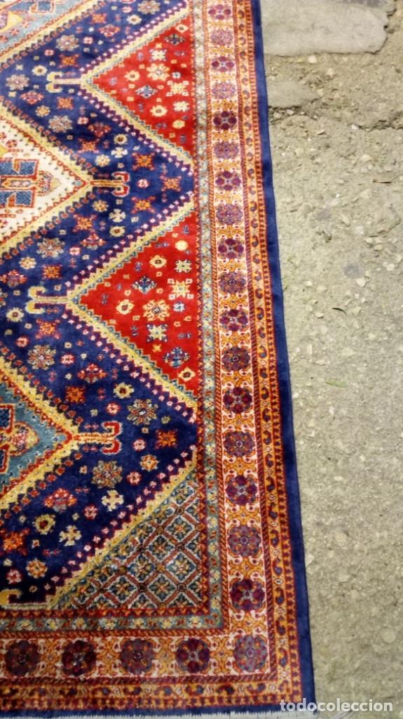 Antigüedades: Alfombra made in India /Calidad Karabag 127x185/100x100 Lana - Foto 6 - 149365070